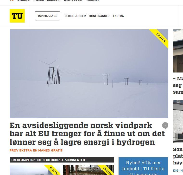 Screenshot of TU's webpage